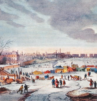 River Thames frost fairs - Thames Frost Fair, 1683–84, by Thomas Wyke