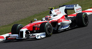 Timo Glock - Glock during practice for the 2009 Japanese Grand Prix, which he missed after sustaining an injury during qualifying