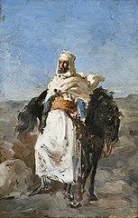 Tipo árabe a caballo