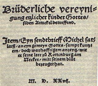 Schleitheim Confession Statement of Anabaptist principles