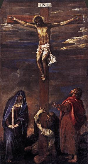 Titian's Ancona Crucifiction, 1558.