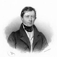 Tobias Haslinger, Lithographie von Joseph Kriehuber, 1842 (Quelle: Wikimedia)