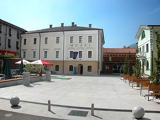 Tolmin - City square and museum