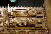 Tombs of John II of Aragon and Juana Enríquez - Monastery of Poblet - Catalonia 2014.JPG