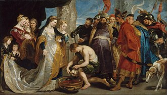 "Tomyris - ""Tomyris Plunges the Head of the Dead Cyrus Into a Vessel of Blood"" by Rubens"