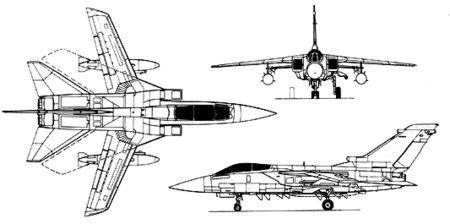Orthographically projected diagram of the Tornado ADV
