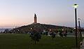 Torre de Hércules anocheciendo.JPG