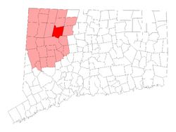 Location within Litchfield County, کنیکٹیکٹ