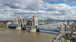 Tower bridge from london city hall 2015