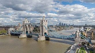Tower Bridge - Image: Tower Bridge from London City Hall 2015