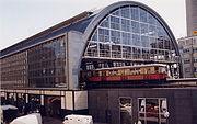 Train station Berlin Alexanderplatz 1999 pixelquelle