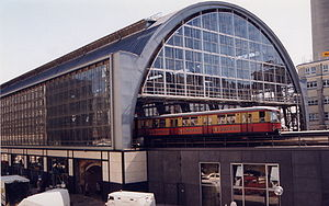 Berlin S-Bahn - Alexanderplatz is an important transport hub in eastern Berlin