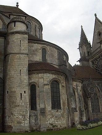 Saint-Germer-de-Fly Abbey - Image: Transition entre styles