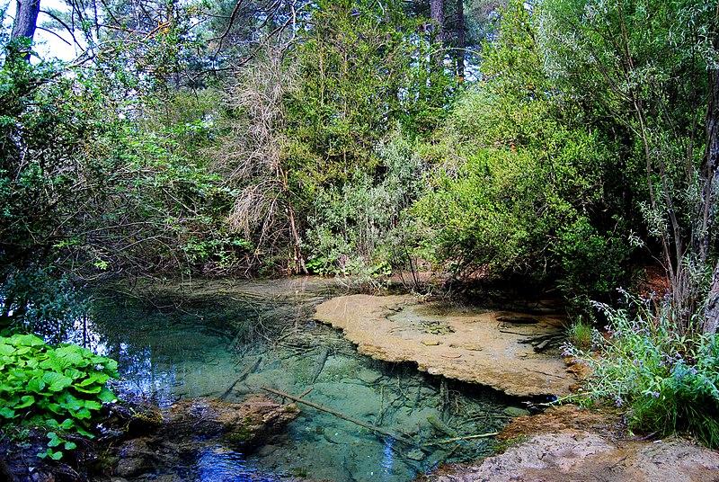 File:Transparent River Cuervo - Nacimiento del río cuervo (source of the Cuervo River), Cuenca Province, Spain - panoramio.jpg