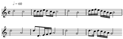 High Quality A Realization Of The Bottom Line Of The Above Diego Ortiz Extract In Modern  Notation, Completed With An Arbitrarily Chosen Clef And A Time Signature.