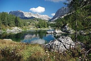 Triglav Lakes Valley Valley in the Julian Alps, Slovenia