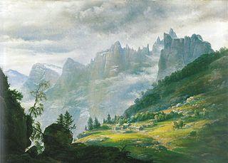 Nordic Landscape with Trolltindene