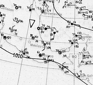 1922 Atlantic hurricane season - Image: Tropical Storm One surface analysis June 15 1922