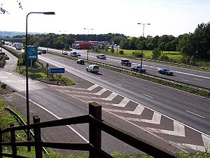 Trowell services - M1 heading southbound