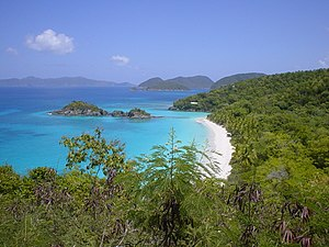 History of the British Virgin Islands - St. John, claimed by the British but never settled. They effectively abandoned their claim to the island in 1718.