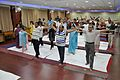 Trunk Movement - Loosening Practice - International Day of Yoga Celebration - NCSM - Kolkata 2015-06-21 7289.JPG