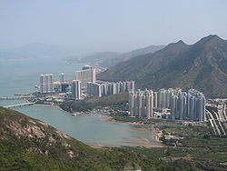 View of Tung Chung from Ngong Ping Skyrail