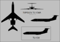Tupolev Tu-134 three-view silhouette.png