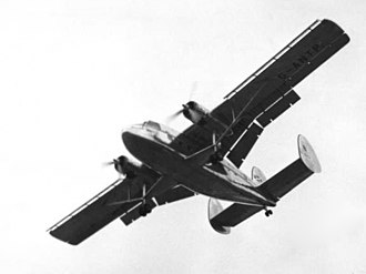 Scottish Aviation Twin Pioneer - Twin Pioneer prototype bearing Scottish Airlines markings at the 1955 Farnborough SBAC Show
