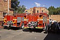 Two decommissioned fire trucks at the fire museum.jpg