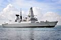 Type 45 Destroyer HMS Dauntless Entering Portsmouth (6796763179).jpg