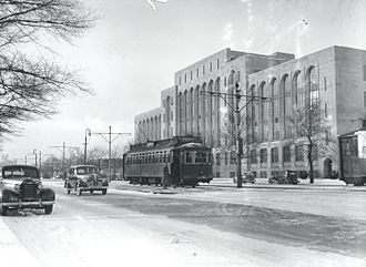 Boston University - Commonwealth Avenue in the 1930s