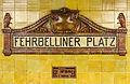 U-Bahnhof Fehrbelliner Platz, Station Sign.jpg