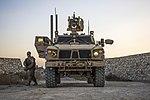 U.S. Air Force Gets Out of Oshkosh M-ATV Assault MRAP During Security Patrol at Bagram Airfield, Afghanistan, Sept. 27, 2016.jpg