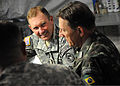 U.S. Army Lt. Gen. P.K. Keen, deputy commander of U.S. Southern Command and commanding general of Joint Task Force-Haiti, and Brazilian military Gen. Floriano Peixoto, commander of United Nations Stabilization 100311-N-HX866-005.jpg