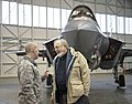 U.S. Congressman Donald Young visits the installation for the F-35 community showcase at Eielson Air Force Base, Alaska.jpg