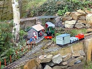 Garden railway - UK garden railway scene