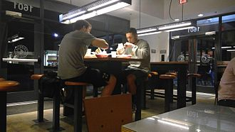 Chipotle Mexican Grill - Customers at a Chipotle restaurant in Fredericksburg, Virginia