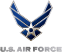Logo of United States Air Force.
