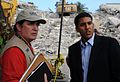 USAID Administrator Shah meets with Response Team Leader Callaghan at the Hotel Montana (4301707132).jpg