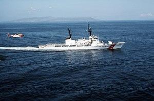 USCGC Midgett (WHEC-726) with HH-3F in 1983.JPEG