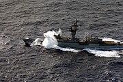 USS Badger (FF-1071) in heavy seas