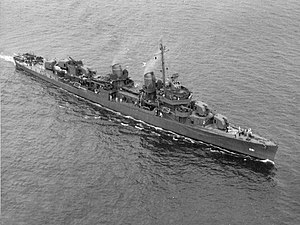 USS Charrette (DD-581) underway off Boston, Massachusetts (USA), on 4 August 1943 (80-G-74846)