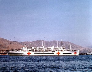 USS Consolation (AH-15) - Image: USS Consolation (AH 15) Inchon 1952