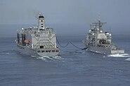 USS Cowpens (CG-63) and USNS John Ericsson (T-AO-194)