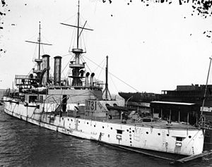 USS Illinois (BB-7) - Illinois in 1901 after sea trial