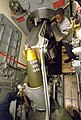 USS Iowa (BB-61) projectile hoisted to spanning tray.jpg