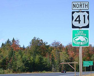 Great Lakes Circle Tour - Image: US 41 Baraga County