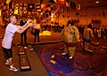 US Navy 050128-N-8213G-046 Sailors assigned to Nimitz-class aircraft carrier USS Ronald Reagan (CVN 76) participate in a Chief's challenge obstacle course, in the hangar bay, hosted by the ship's moral welfare and recreat.jpg