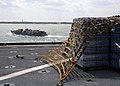 US Navy 050831-N-8002S-251 A Landing Craft, Utility, assigned to Assault Craft Unit Two (ACU-2), prepares to embark aboard the dock landing ship USS Tortuga (LSD 46) in support of Hurricane Katrina disaster relief efforts.jpg