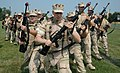 US Navy 060824-N-8907D-099 Members of Navy Customs Battalion ROMEO perform formation drills to strengthen teamwork during a training session at Fort Eustis Aug. 24.jpg